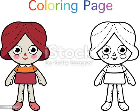 Raggedy Ann Coloring Pages | ... Andy Raggedy Ann Playing Rope in ... | 372x465