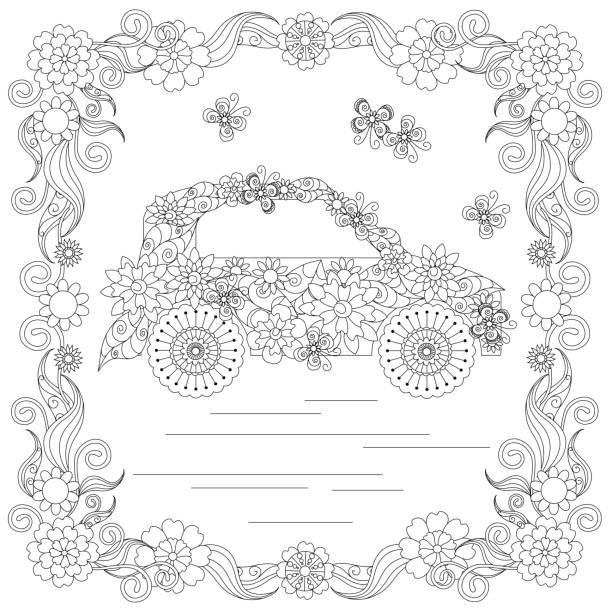 coloring page vector art illustration