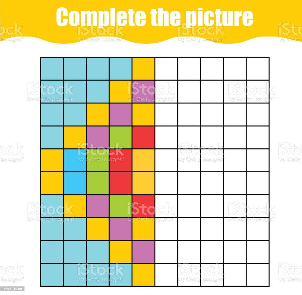 Boyama Sayfası Soyut Geometrik Desenli çocuklar Için Eğitici Bir