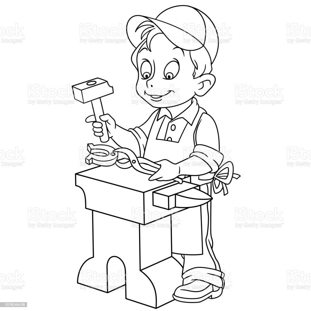 malvorlage hufeisen bilder  kinder zeichnen und ausmalen