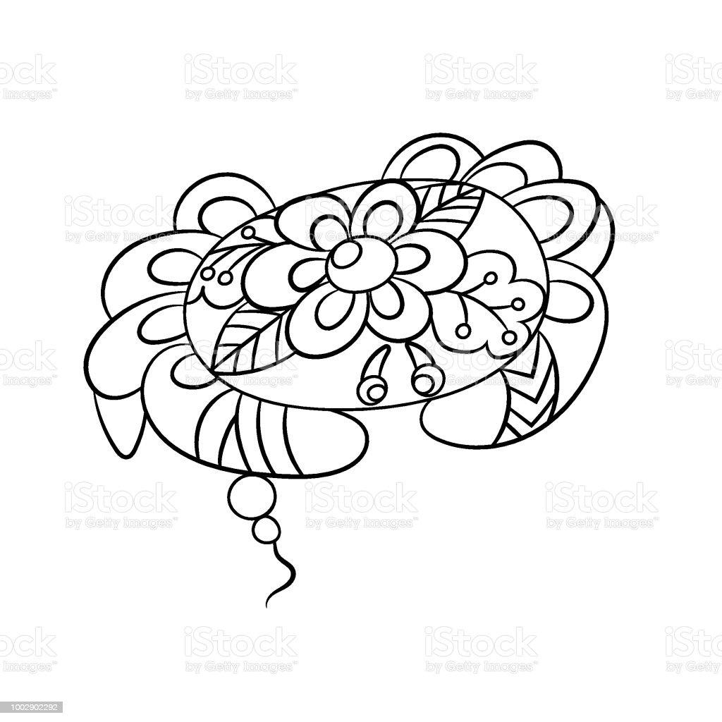 Ilustración de Página Con Cangrejo En Ornamnets En Diseño Gráfico De ...