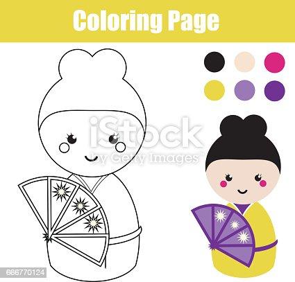 istock Página para colorear con moda y zapatos. Dibujo juego de ...
