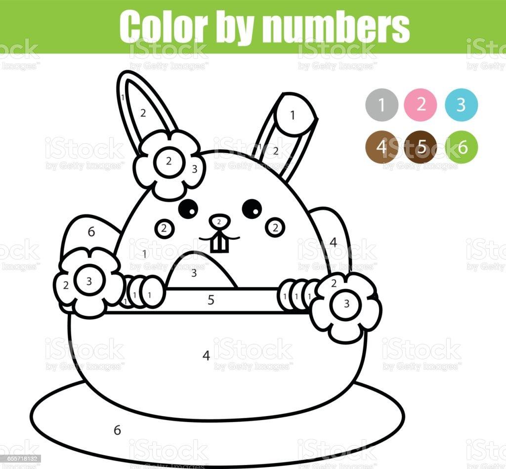 Malvorlagen Ostern Hase Charakter Farbe Durch Pädagogische Kinder ...