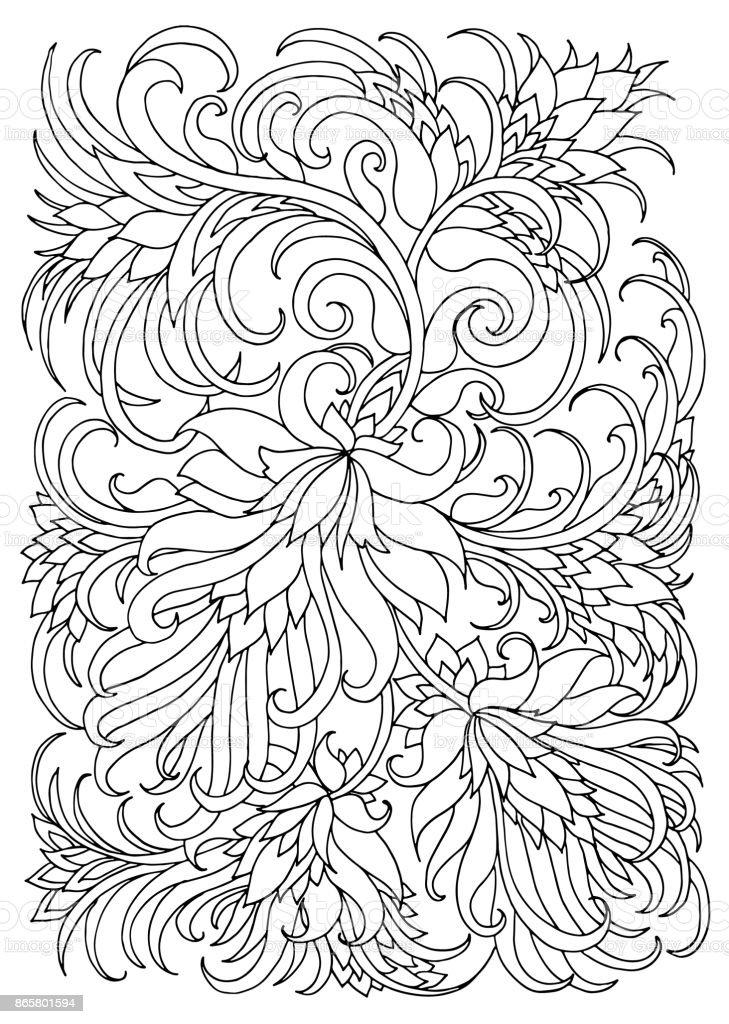 Kleurplaten Bloemen En Planten.Kleurplaat Met Bloemen En Planten Stockvectorkunst En Meer Beelden