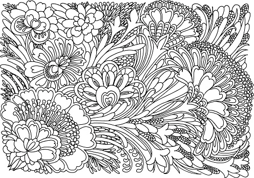Coloring book pages templates