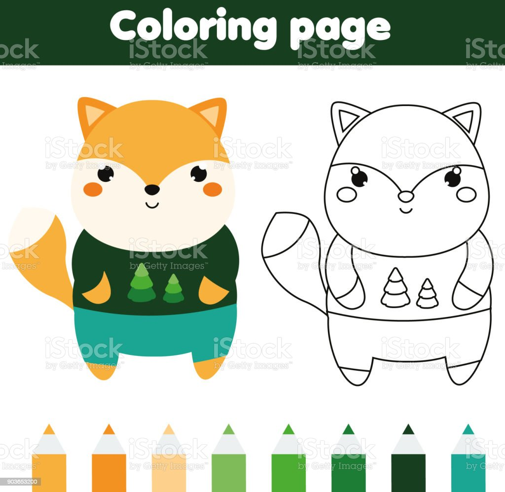 graphic relating to Fox Printable identify Coloring Web site With Fox Drawing Children Game Printable Babies Pleasurable Inventory Case in point - Obtain Picture Already