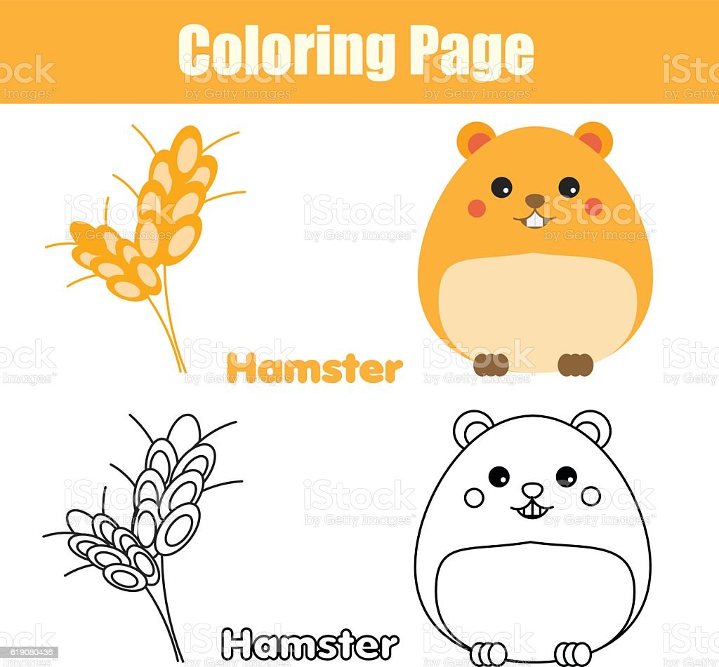 coloring page with hamster educational game printable drawing kids activity stock illustration download image now istock https www istockphoto com vector coloring page with hamster educational game printable drawing kids activity gm619080436 107910299