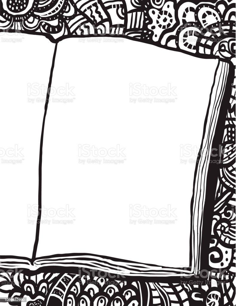 Coloriage Page Avec Ordinateur Portable Et Doodle Bg Vecteurs Libres De Droits Et Plus D Images Vectorielles De Abstrait Istock