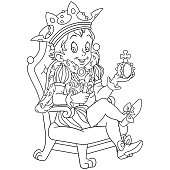 Coloring page with prince or king