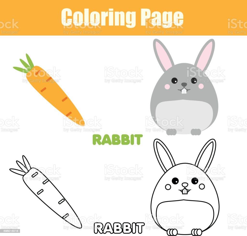 Kleurplaat Met Konijn Konijn Karakter Educatief Spel Afdrukbare