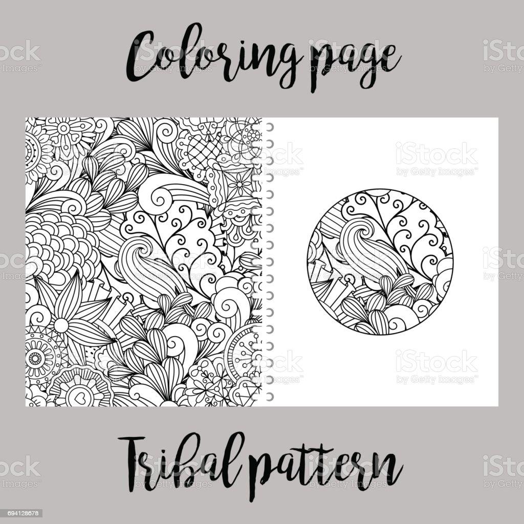 Malvorlagen Mit Tribal Muster Stock Vektor Art und mehr Bilder von ...