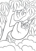 coloring page_sloth03_