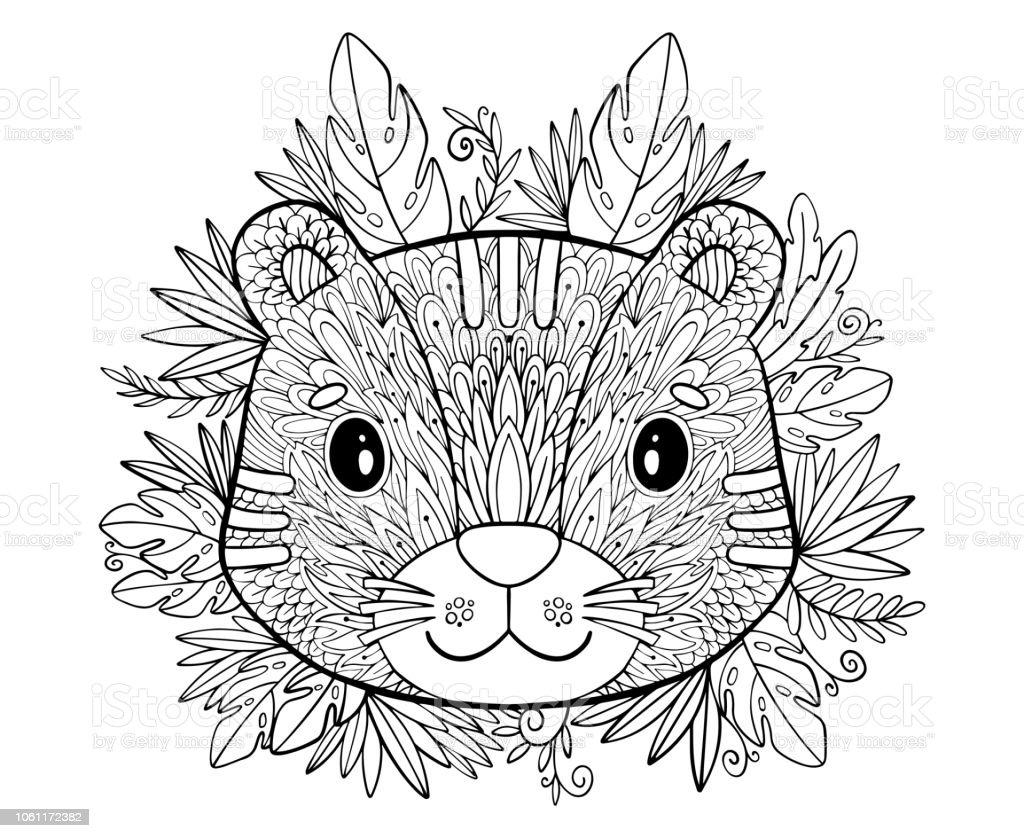 Ilustración De Dibujos Para Colorear Libro Para Colorear