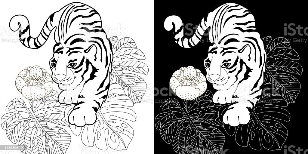 Free Tiger Coloring Page to Print (Adult Coloring Pages) - Craftfoxes   512x1024