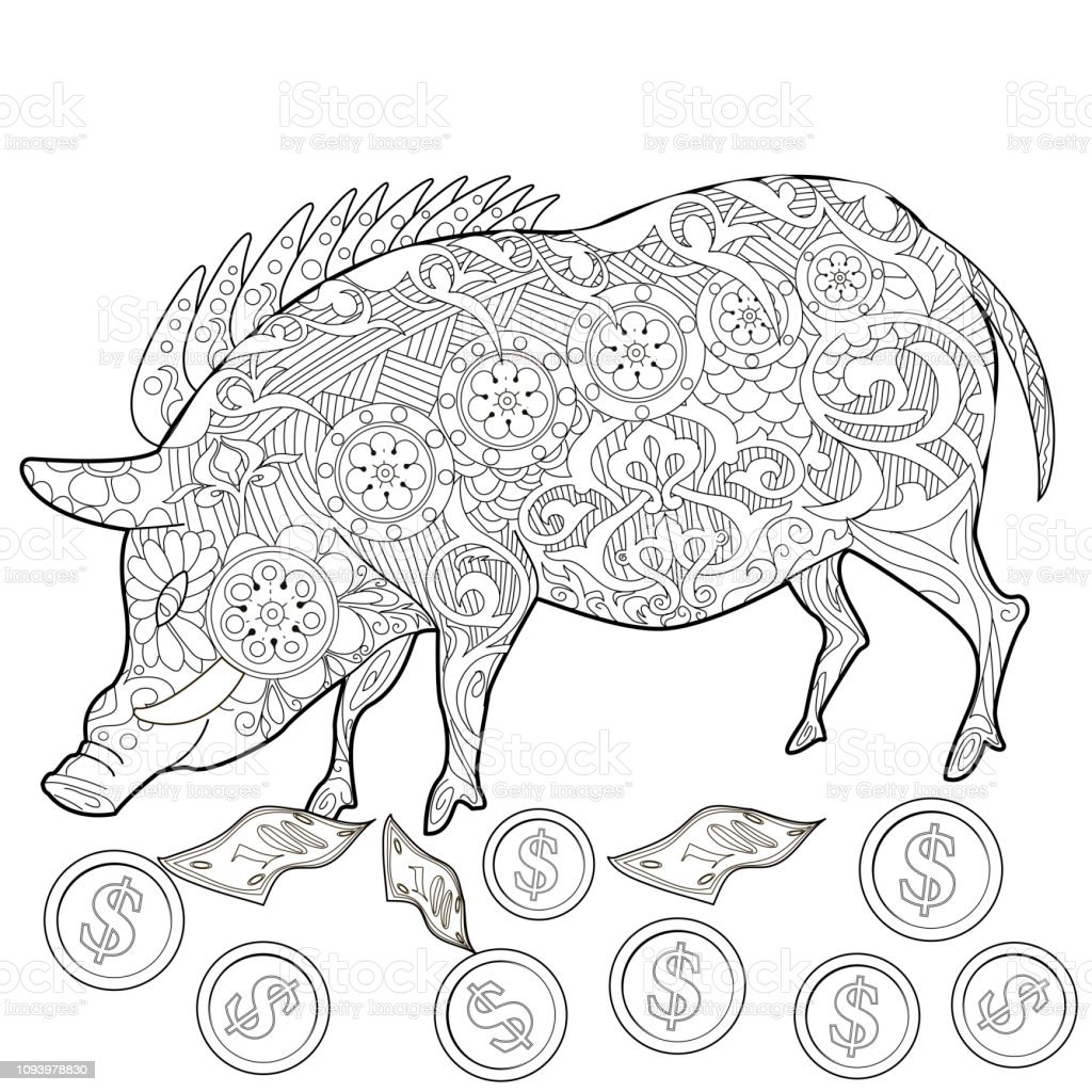 - Coloring Pages Coloring Book For Children And Adults Cute Pig 2019