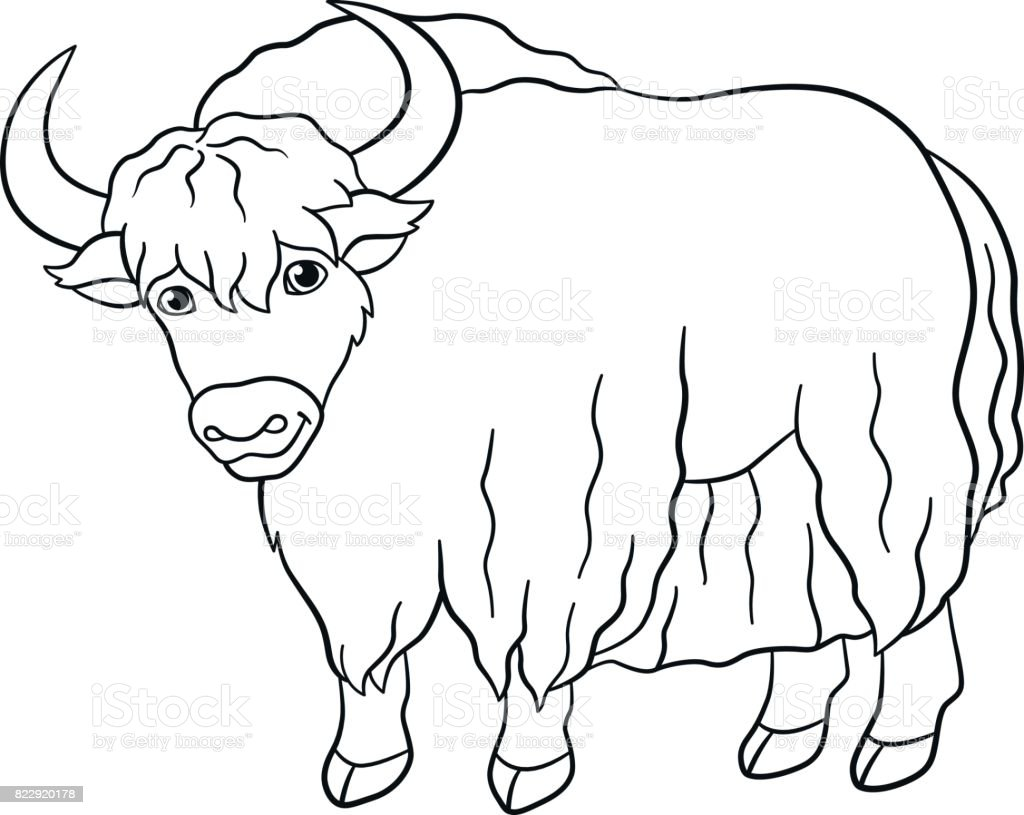 It's just a graphic of Remarkable Yak Coloring Page