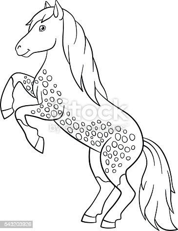 Libri da colorare fattoria animali bellissimo cavallo Magnificent animals coloring book