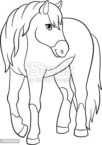 Libri da colorare fattoria animali graziosa cavallo - Animale domestico da colorare pagine gratis ...