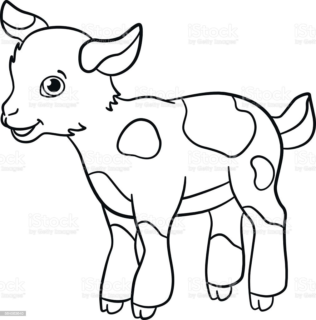 Coloring Pages Farm Animals Little
