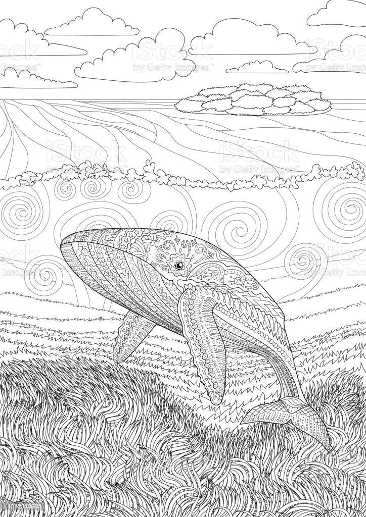 Blue Whale Art - Cliparts.co | 1024x724
