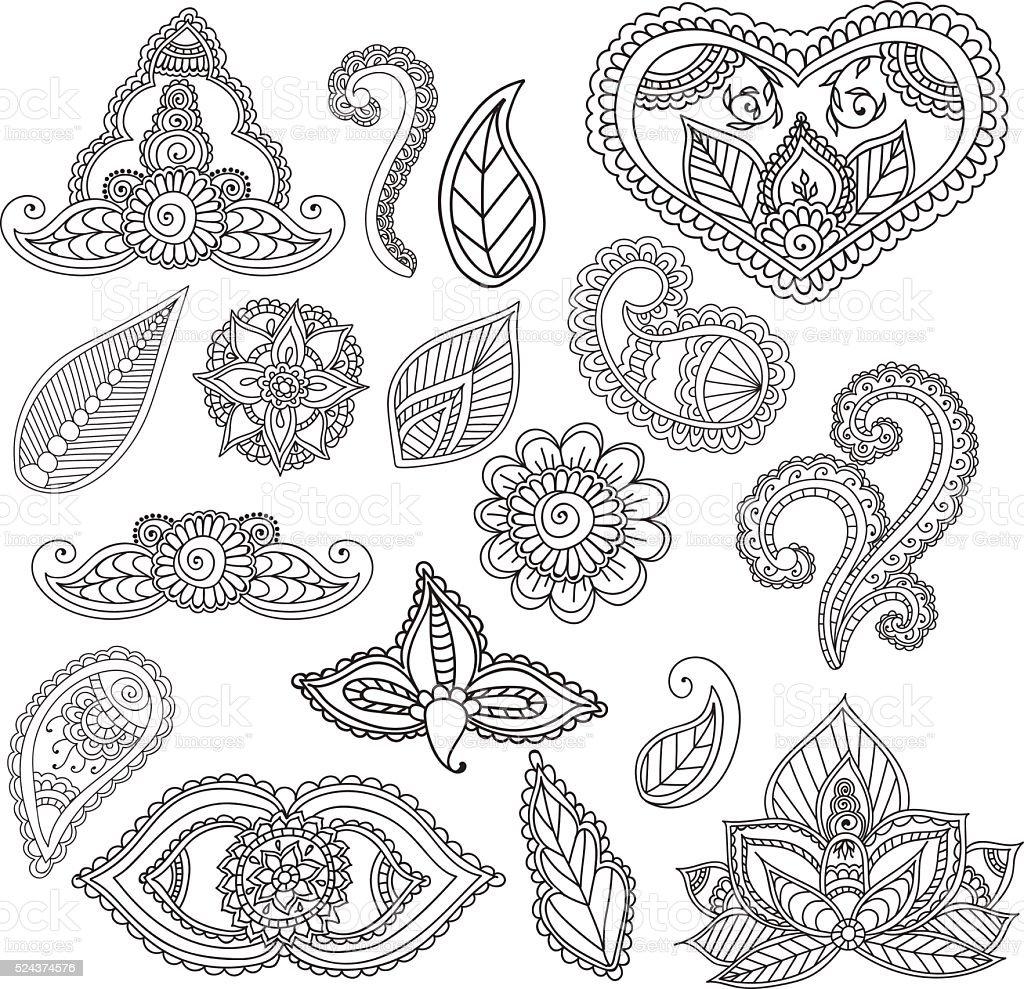 Ilustración de Colorear Páginas Para Adultos Garabatos Abstractos De ...