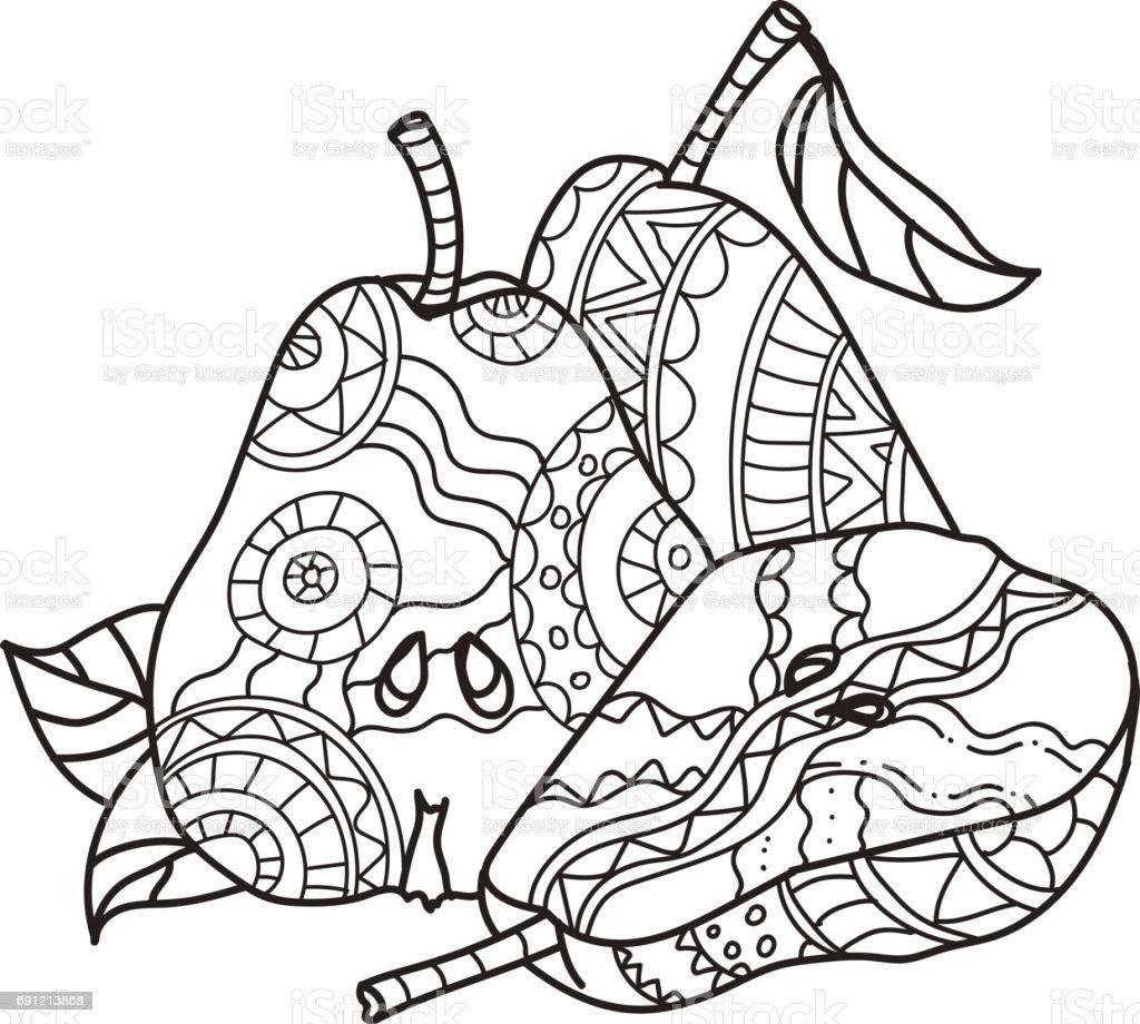 Yetiskinler Icin Boyama Sayfalari Dekoratif El Cizilmis Doodle
