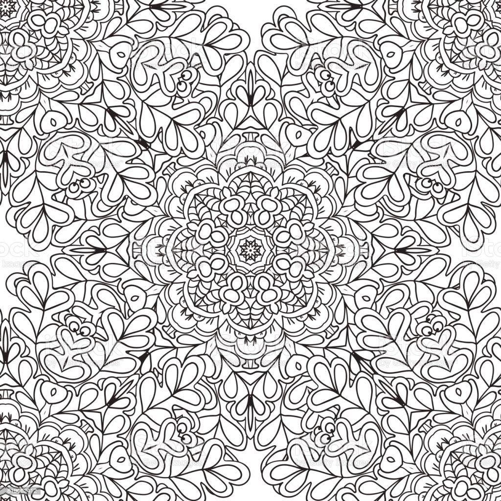 Kleurplaten Van Natuur.Kleurplaten Voor Volwassenen Decoratieve Hand Getrokken Doodle