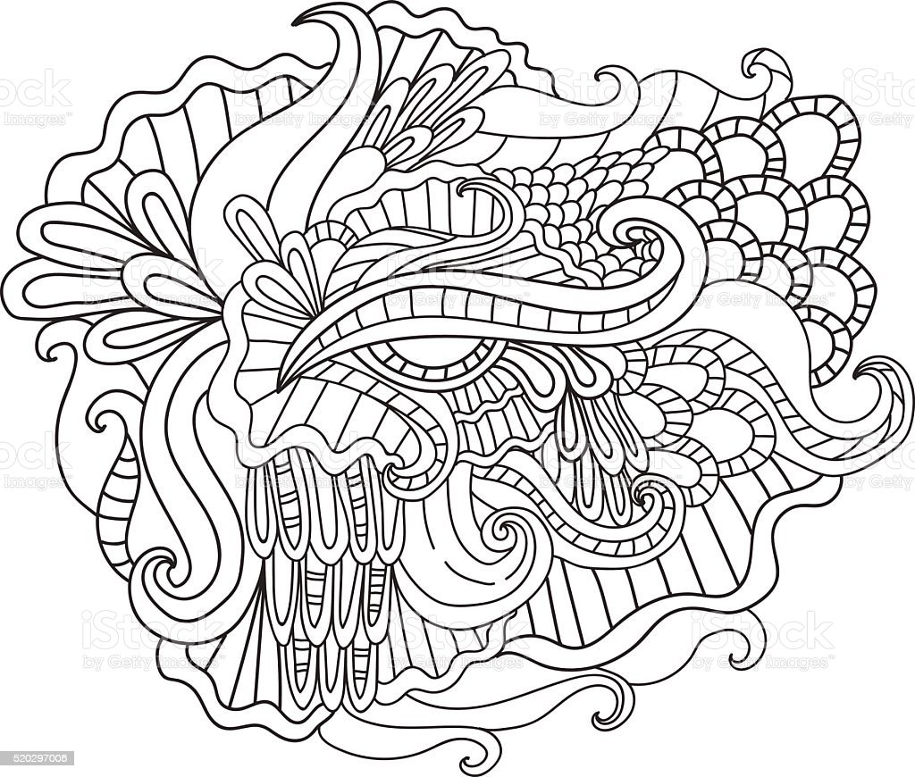 coloring pages for adultsdecorative hand drawn doodle nature vector id