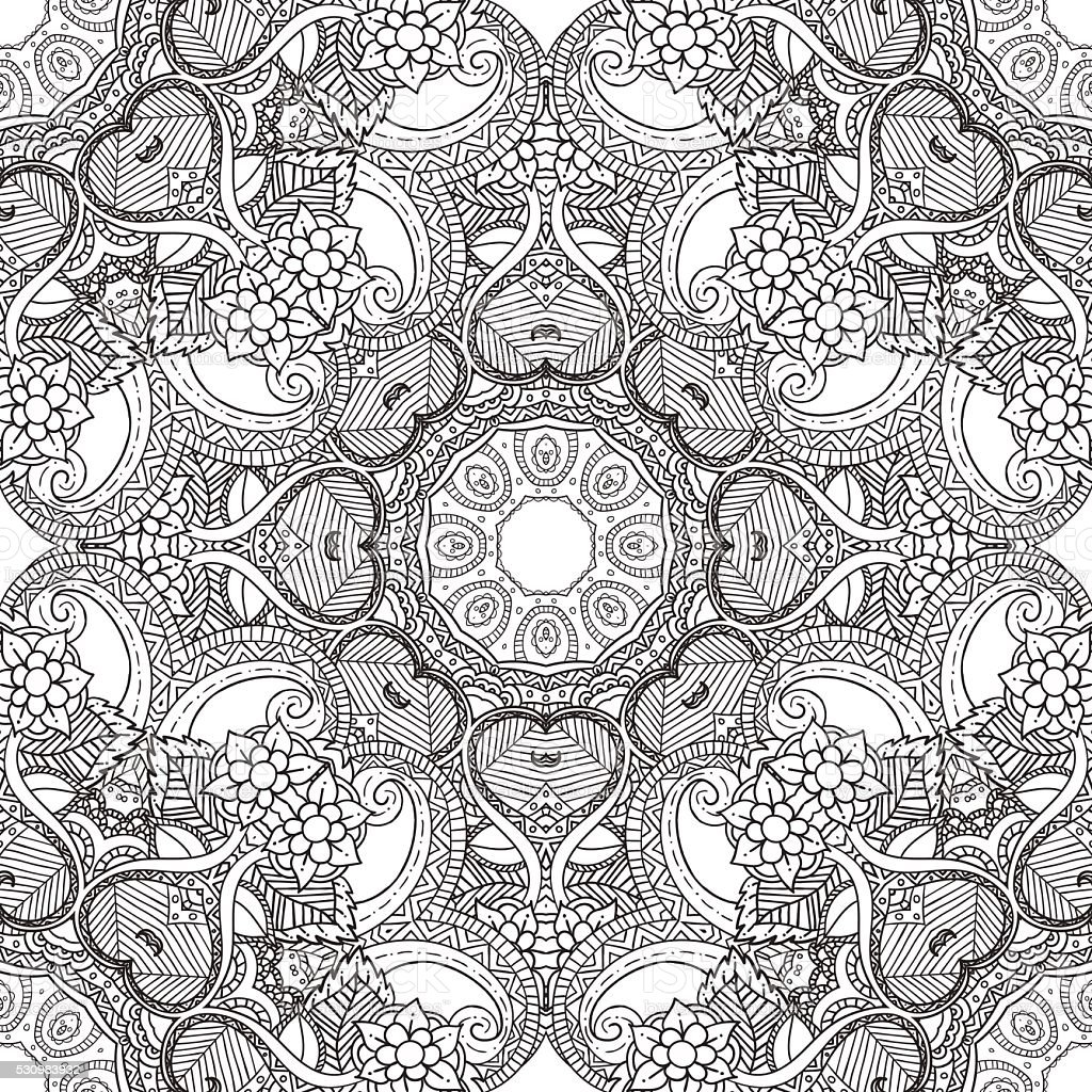 Coloring Pages For AdultsDecorative Hand Drawn Doodle Nature Ornamental Royalty Free