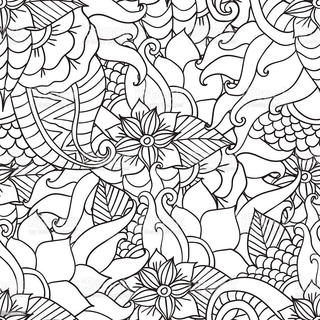 Vetores De Páginas Para Colorir Adultos Decorativos