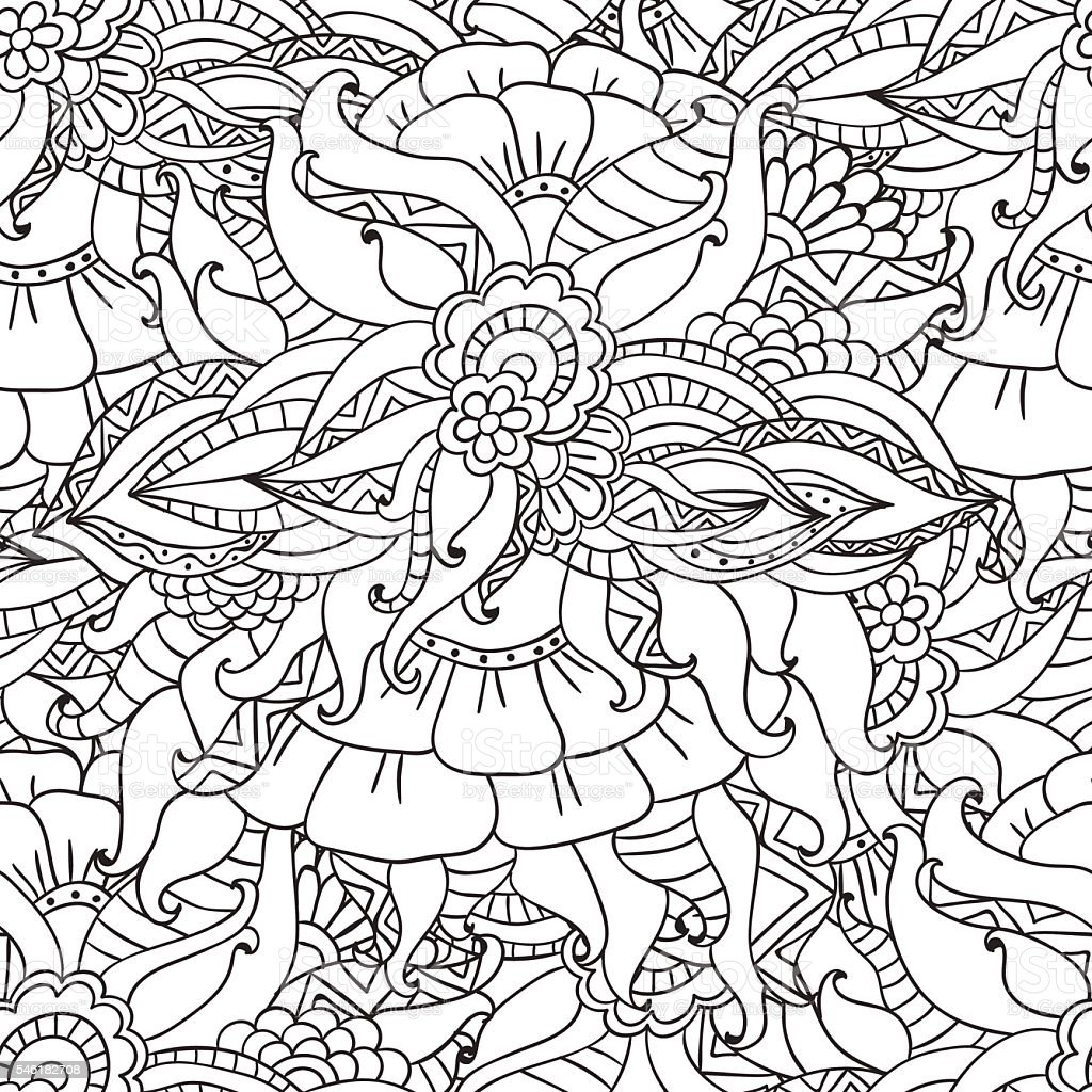 coloring pages of nature - coloring pages for adultsdecorative hand drawn doodle