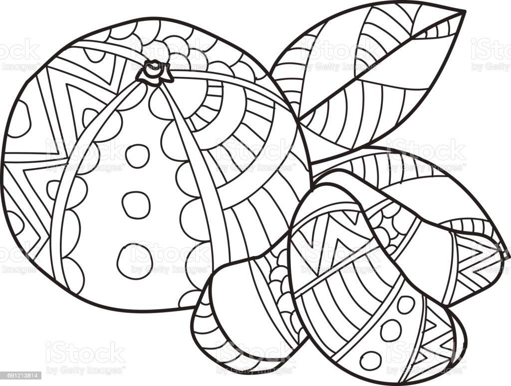 Páginas Para Colorear Para Adultos Dibujo De Vector Hecho Mano De ...