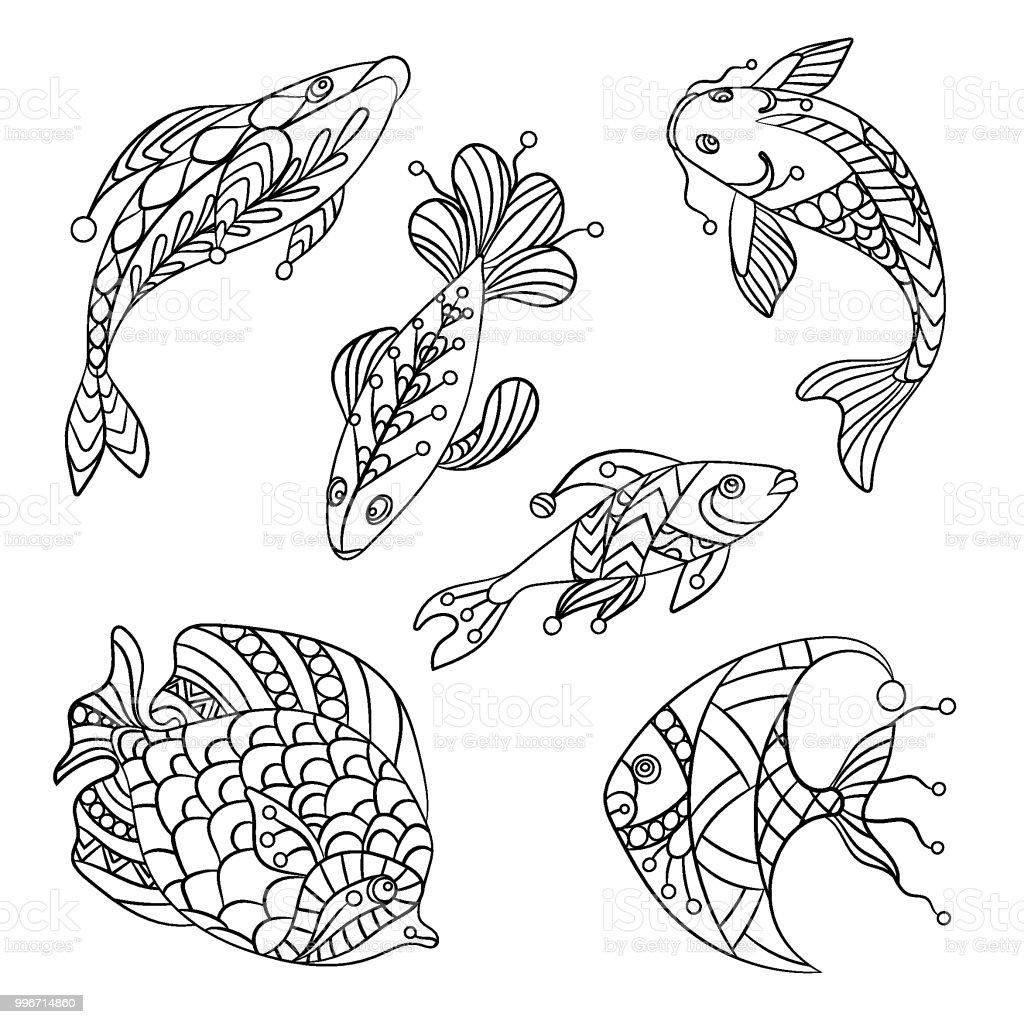 Malvorlagen Für Kinder Und Erwachsene Mit Meer Fische In