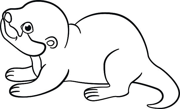 river otter cartoons illustrations royaltyfree vector