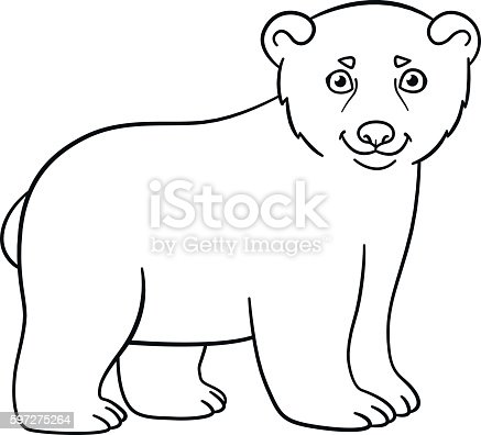 Coloring Pages Little Cute Baby