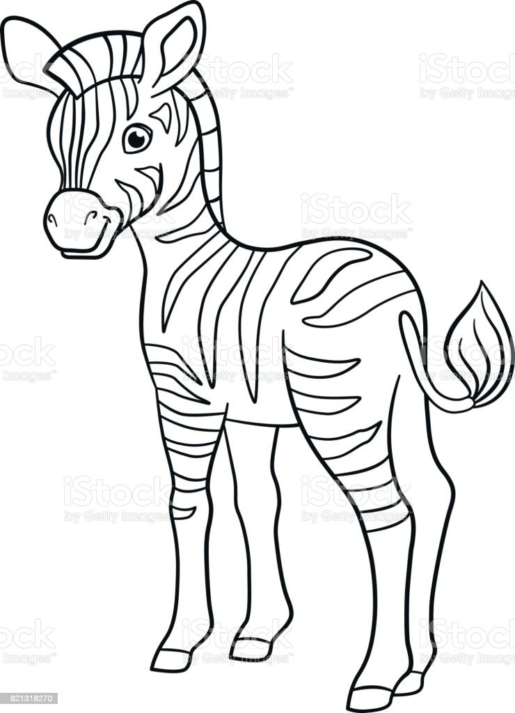 Ilustración de Dibujos Para Colorear Cebra De Lindo Bebé Poco y más ...