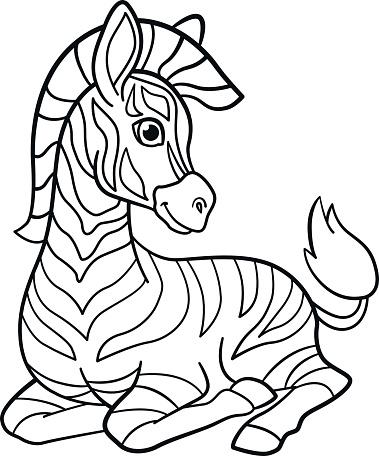 Pages A Colorier Petit Zebre Bebe Mignon Vecteurs Libres De Droits