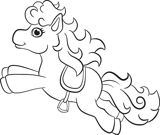Pony express coloring pages ~ Royalty Free Pony Express Clip Art, Vector Images ...