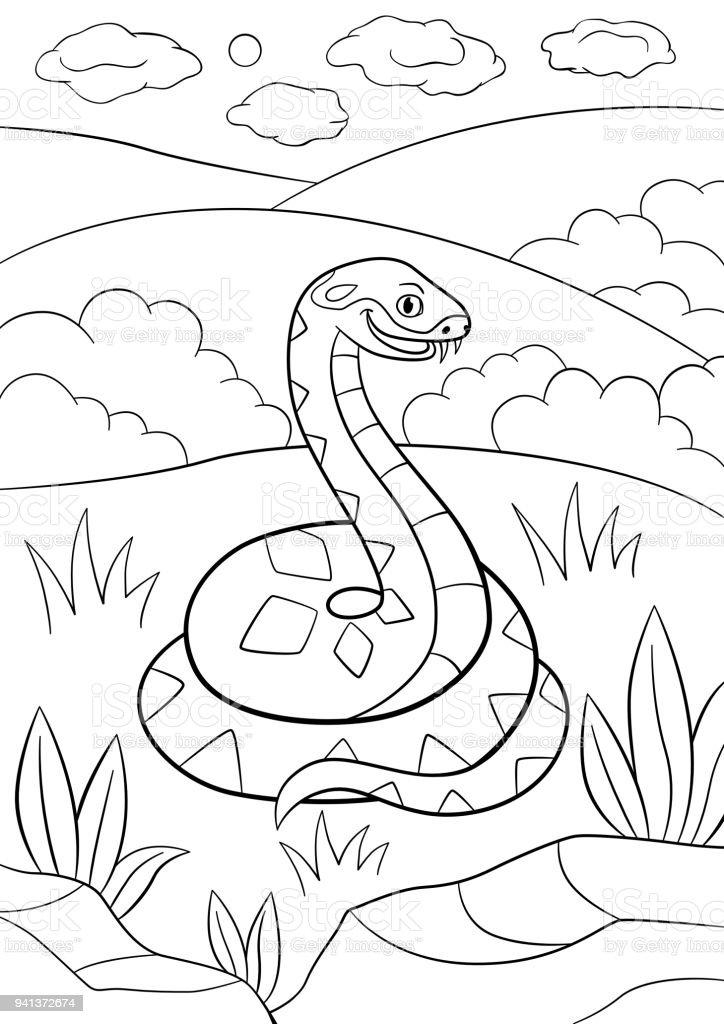 Dibujos Para Colorear Sonrisas De Viper Lindo Poco - Arte vectorial ...