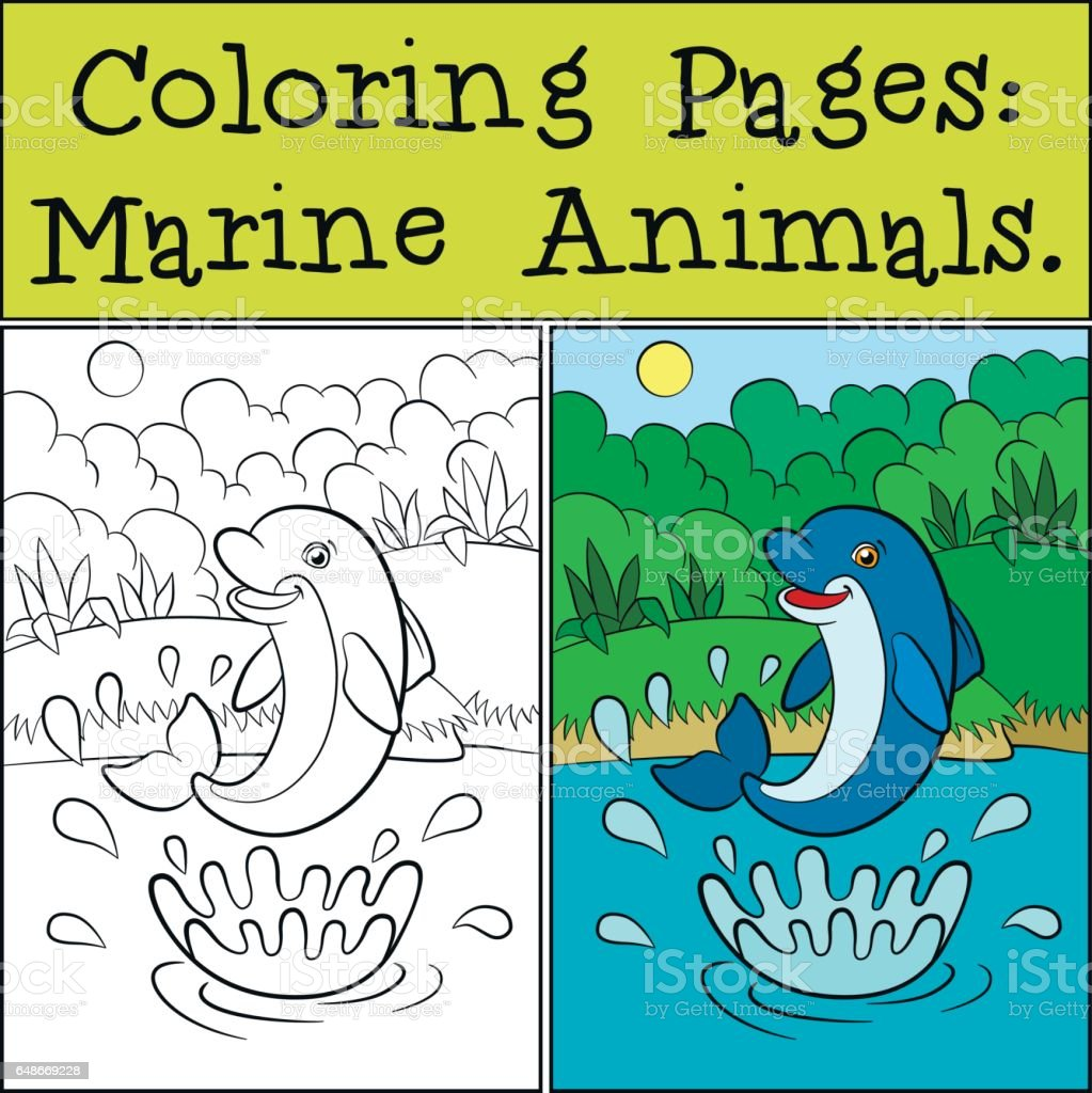 Boyama Sayfalari Deniz Hayvanlari Sicrama Ile Sudan Kucuk Sevimli