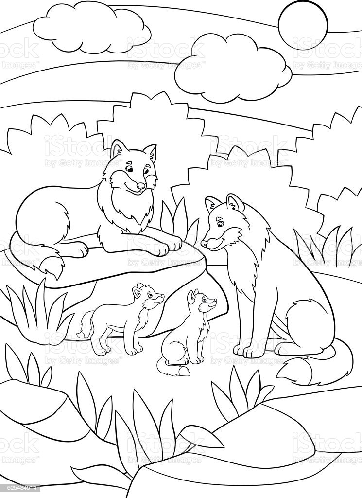 Coloring Pages Of Animals And Their Babies : Coloring pages for animals and their babies