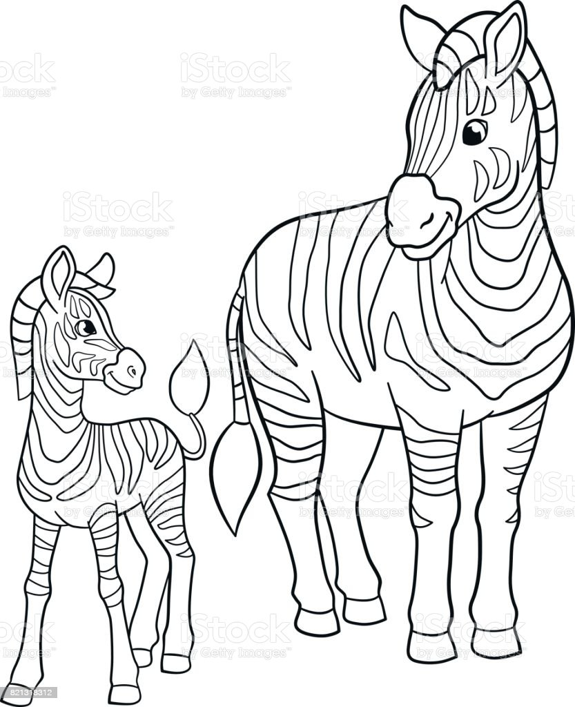 coloring pages for your kids: cute baby zebra coloring pages Only ... | 1024x833