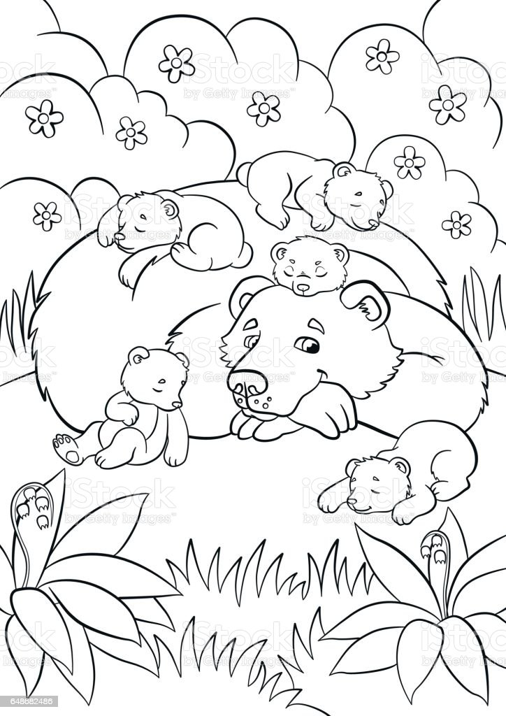 Dibujos para colorear de animales que respiran por Coloring book 10 baby animals