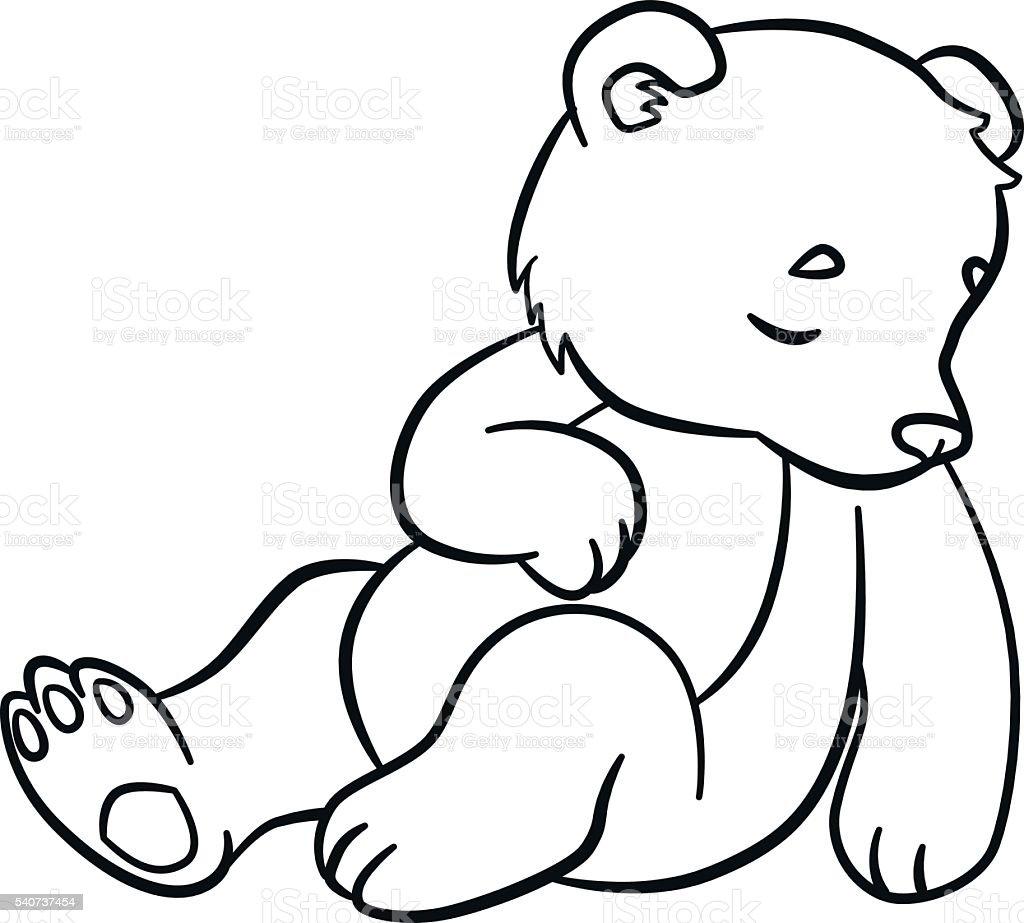 Ilustración de Colorear Páginas Los Animales Salvajes Lindo Bebé ...