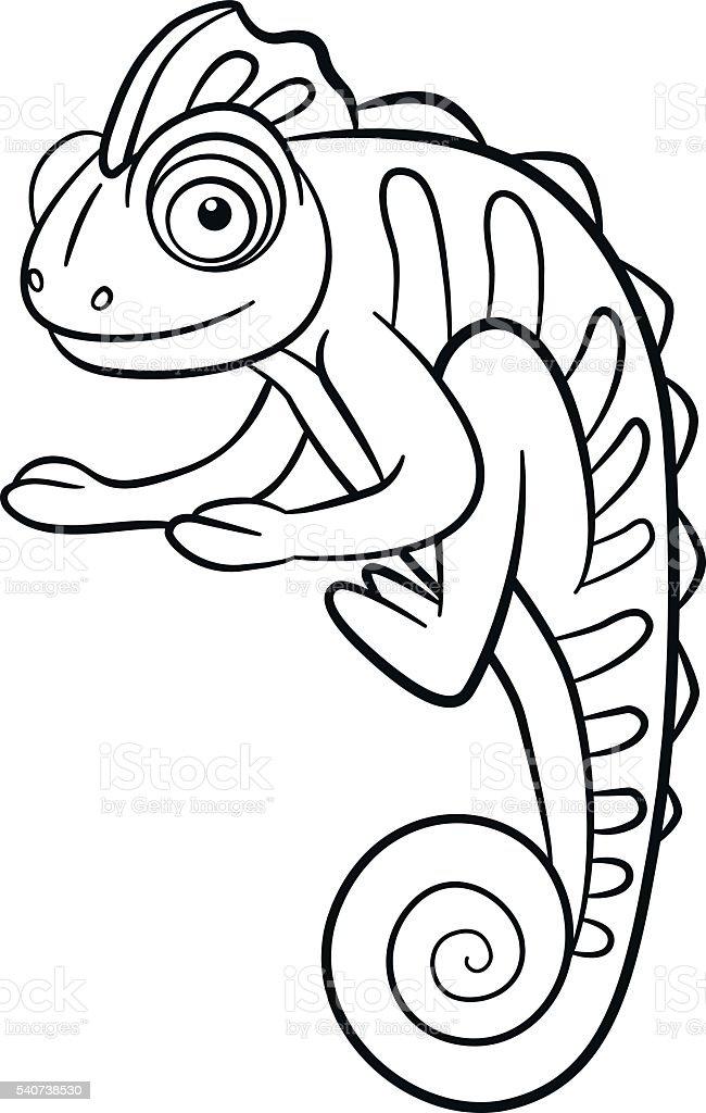 royalty free camouflage chameleon pictures clip art vector images rh istockphoto com Bird Clip Art Happy Animal Clip Art
