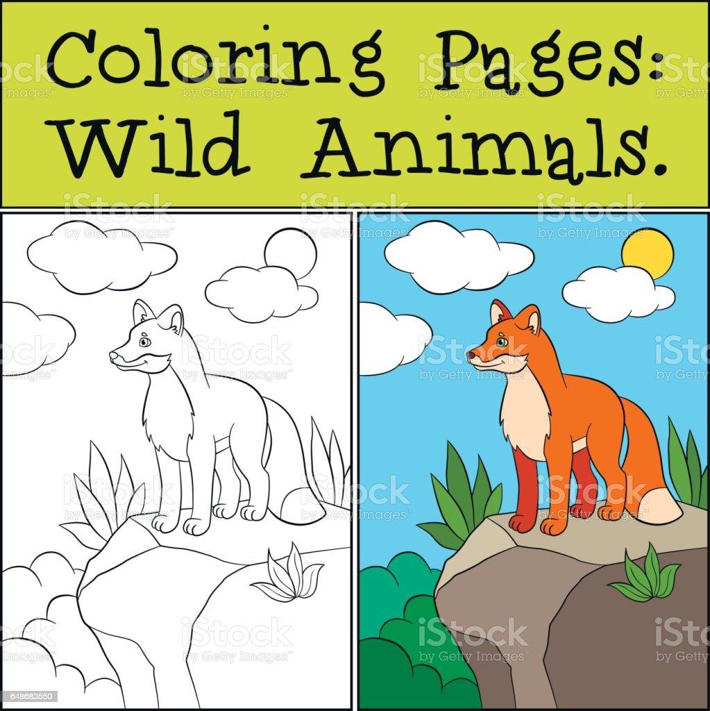 Ilustración De Dibujos Para Colorear Animales Salvajes