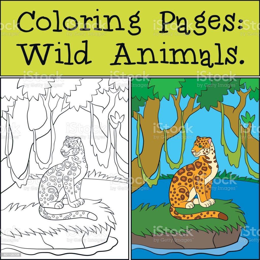 Dibujos Para Colorear Animales Salvajes Pequeñas Sonrisas Lindo ...