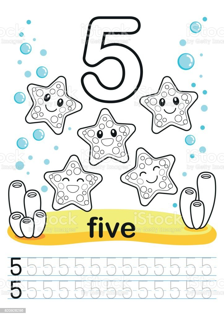 Coloring Printable Worksheet For Kindergarten And Preschool Training ...