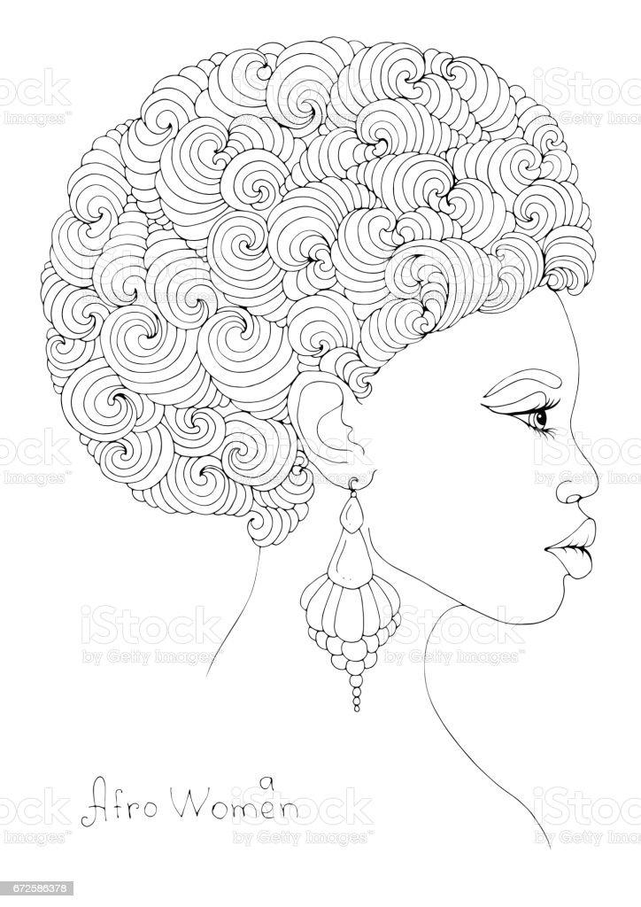 Muhtesem Kivircik Afro Sac Modeli Ile Genc Bir Afrikali Kiz