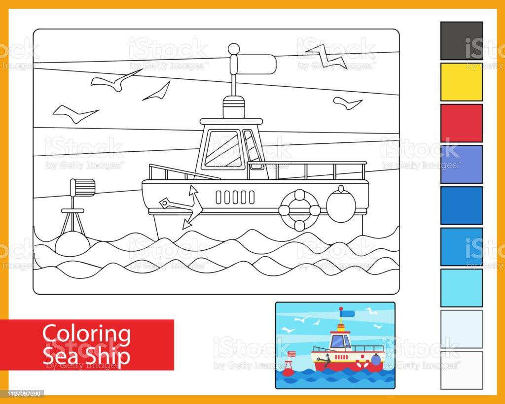 Kleurplaten Kleuren Spelletjes.Kleurplaten Zee Schip Kinder Kunst Spel Animatie Voor Kinderen De